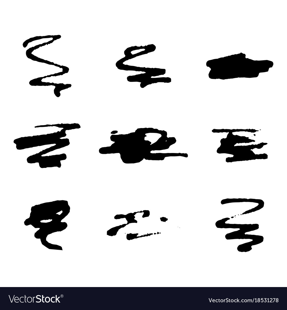 Black out hand drawing marker vector image