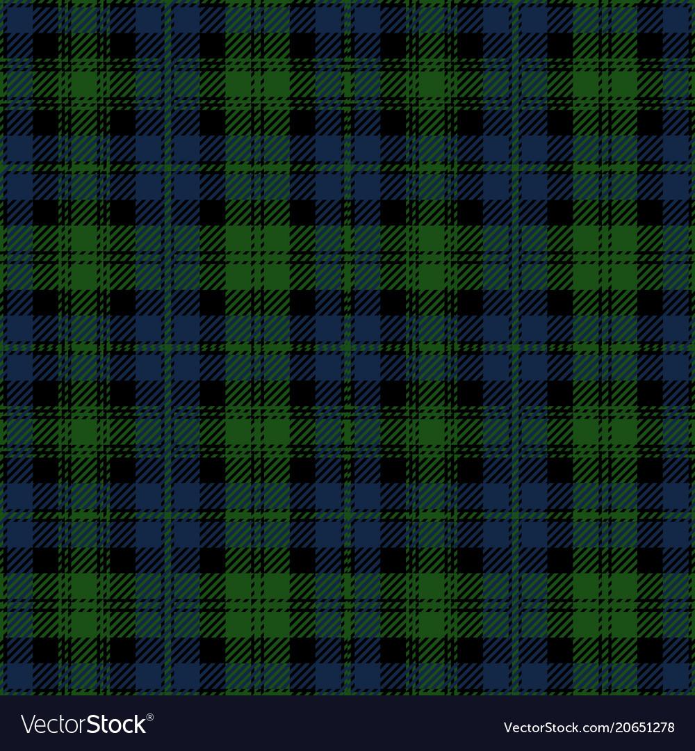 Blue and green tartan plaid seamless pattern