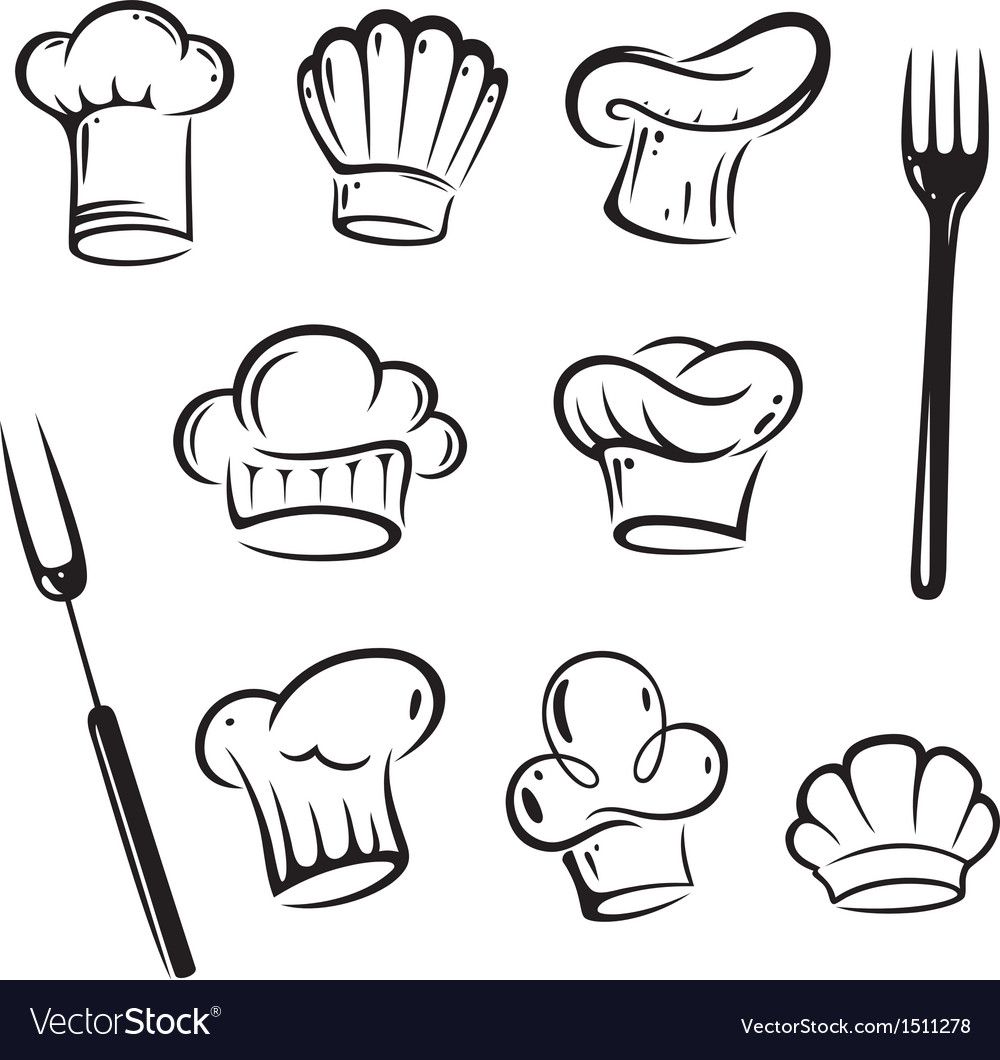 chef hats design elements royalty free vector image