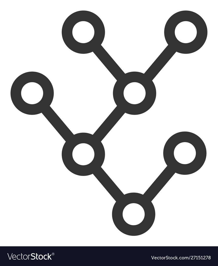 Flat binary tree icon