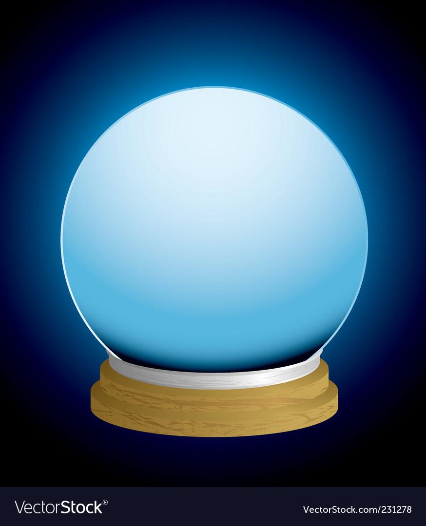 Fortune teller crystal ball vector image