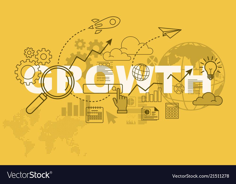 Growth website banner design concept