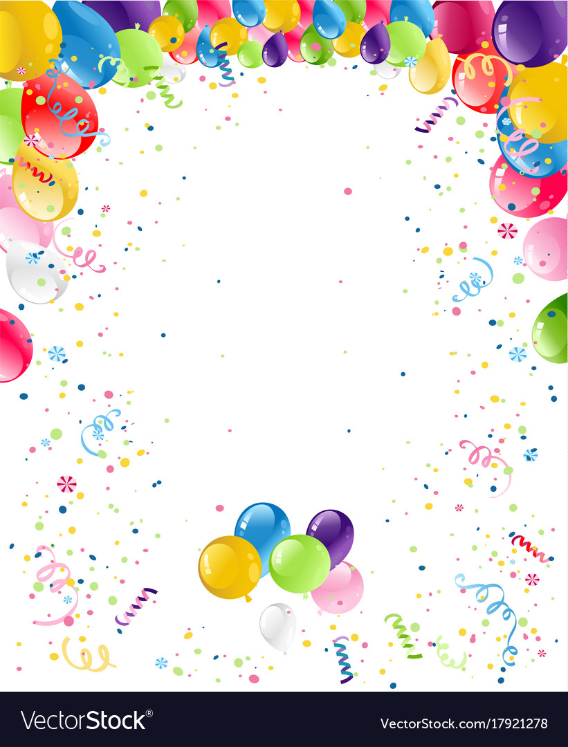 Happy Birthday Card Background Royalty Free Vector Image