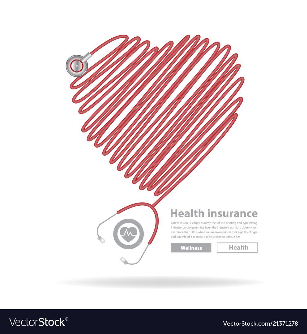 Stethoscope heart design