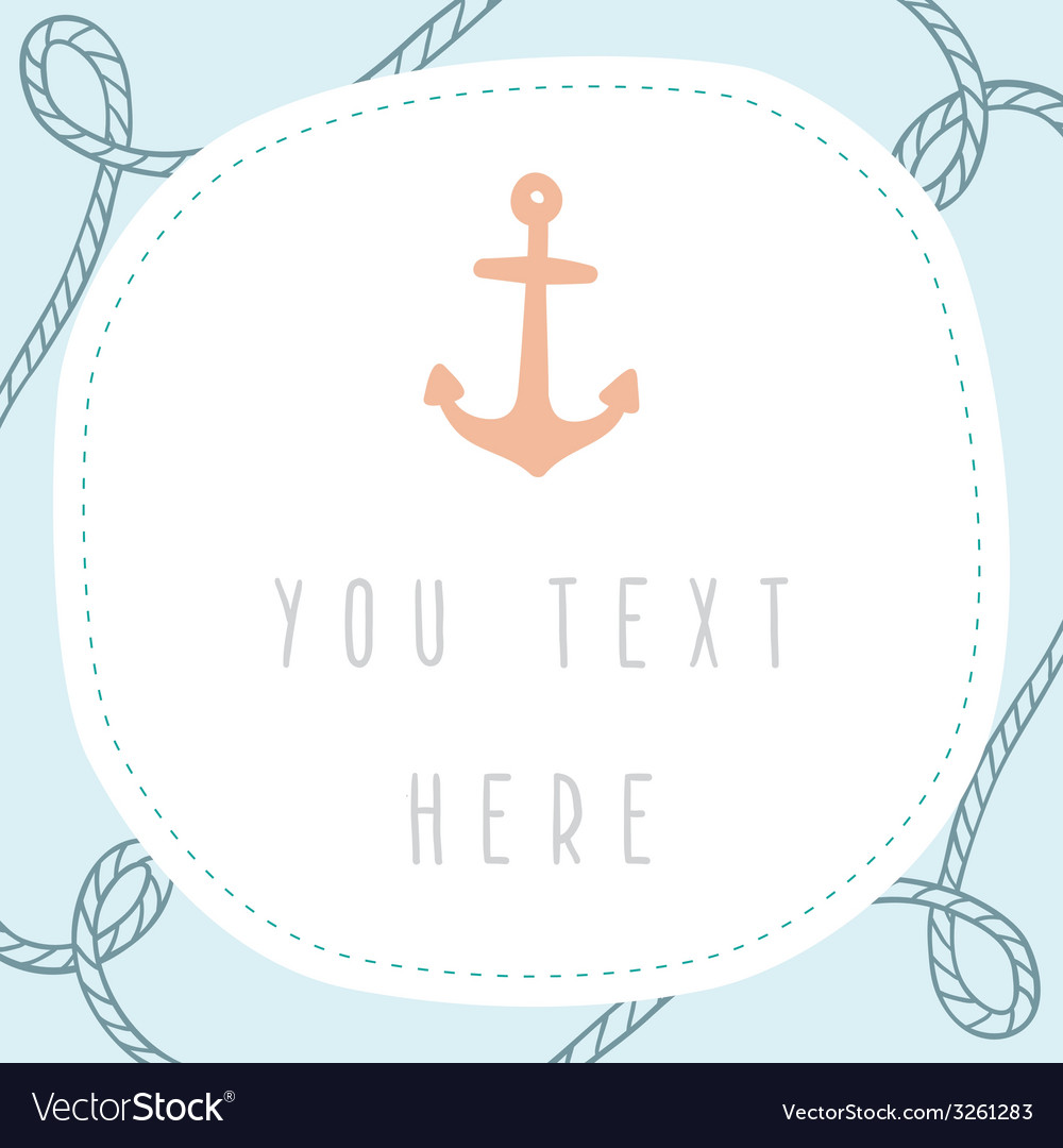 Anchor greeting card template