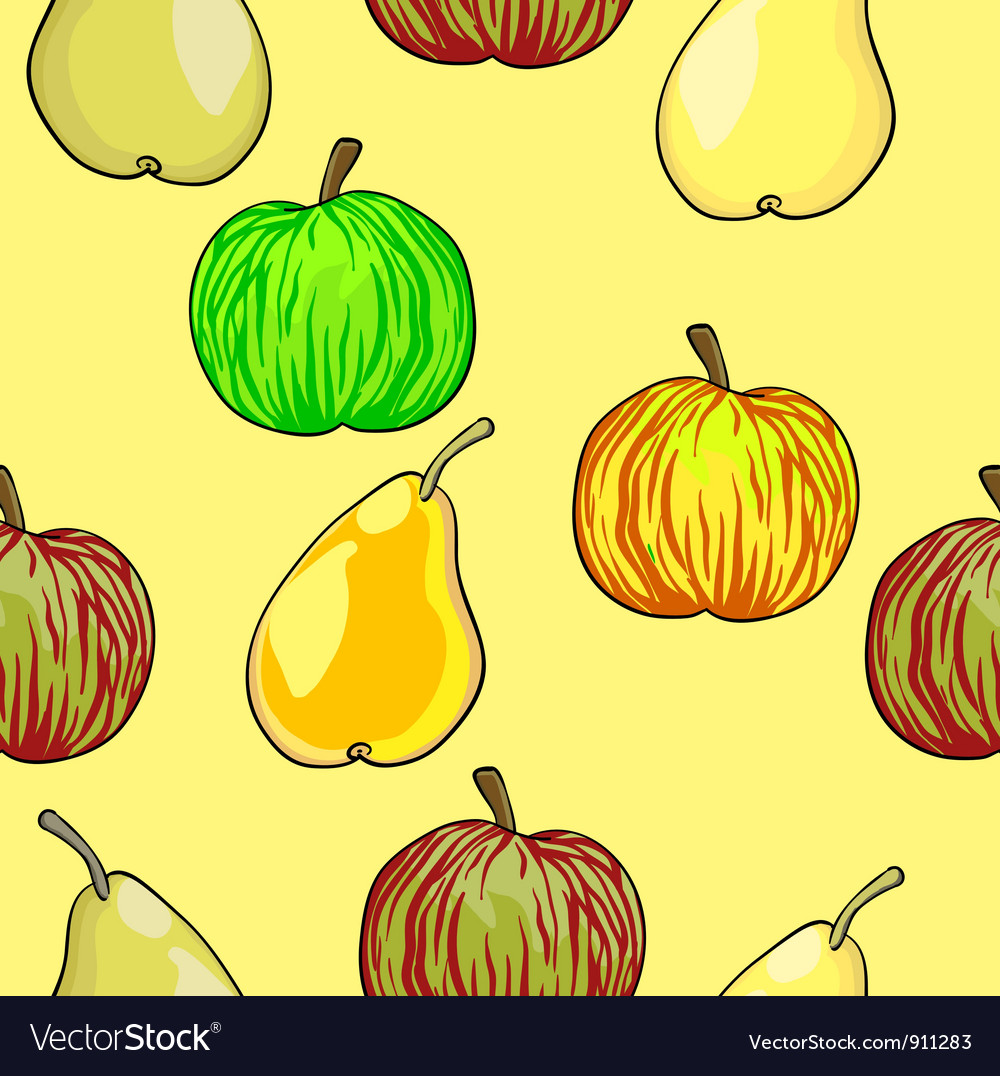 Apples Pears Fruits Pattern