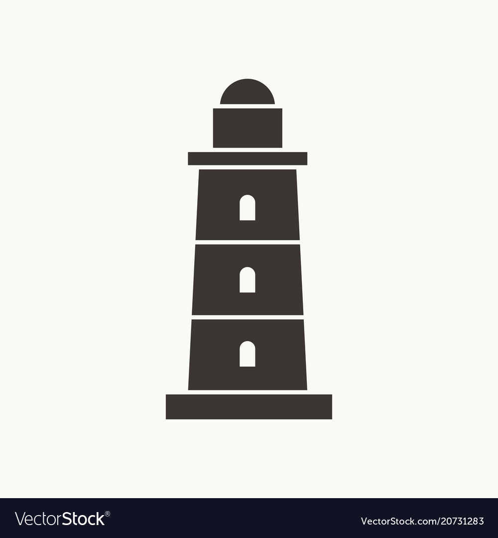 Beacon tower simple icon vector image