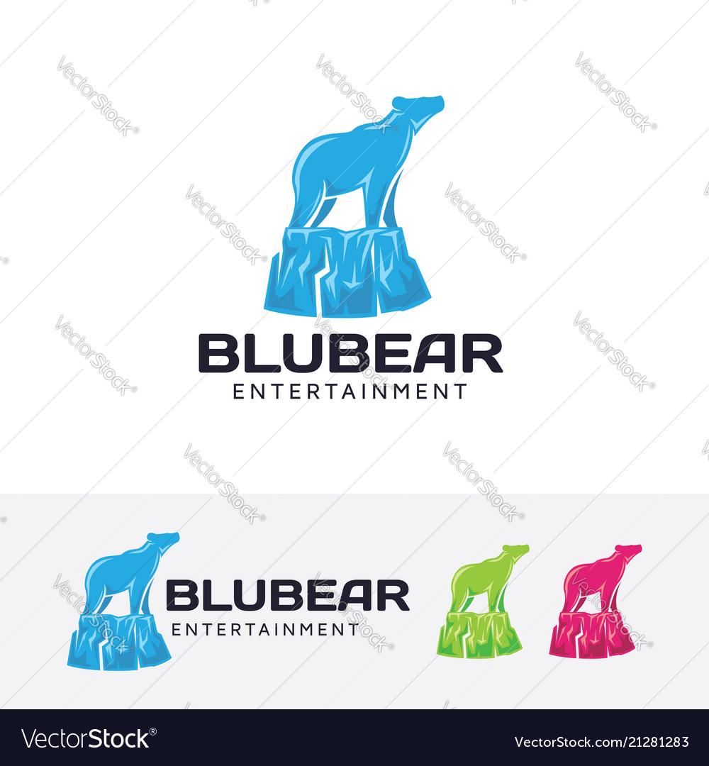 Blue bear logo design