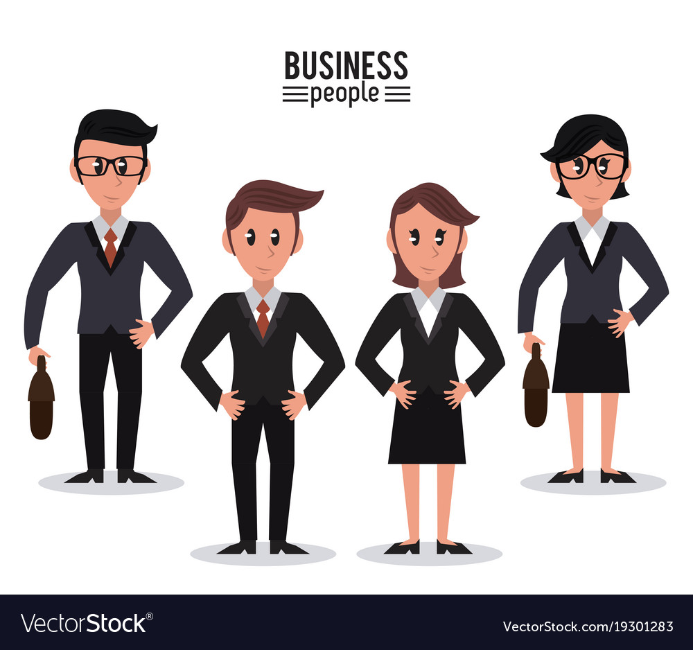 business people cartoon royalty free vector image