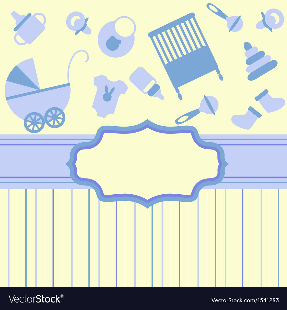 Card For Newborn Boy Royalty Free Vector Image