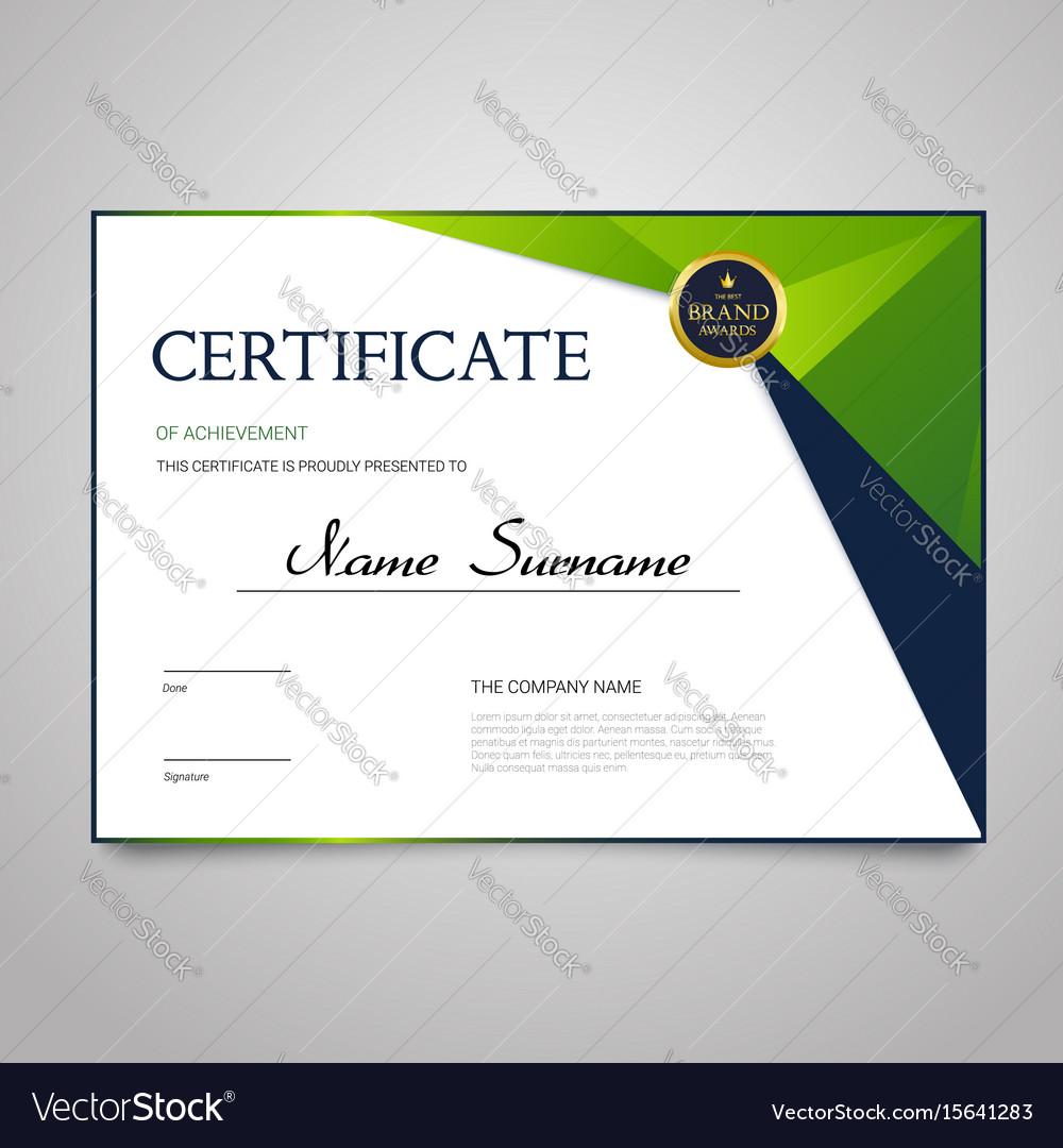 Certificate - horizontal elegant document