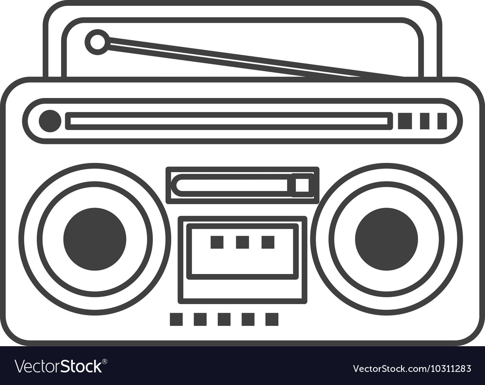 Classic boombox icon