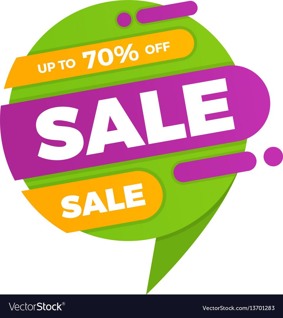 Colorful speech bubble sale design banner price