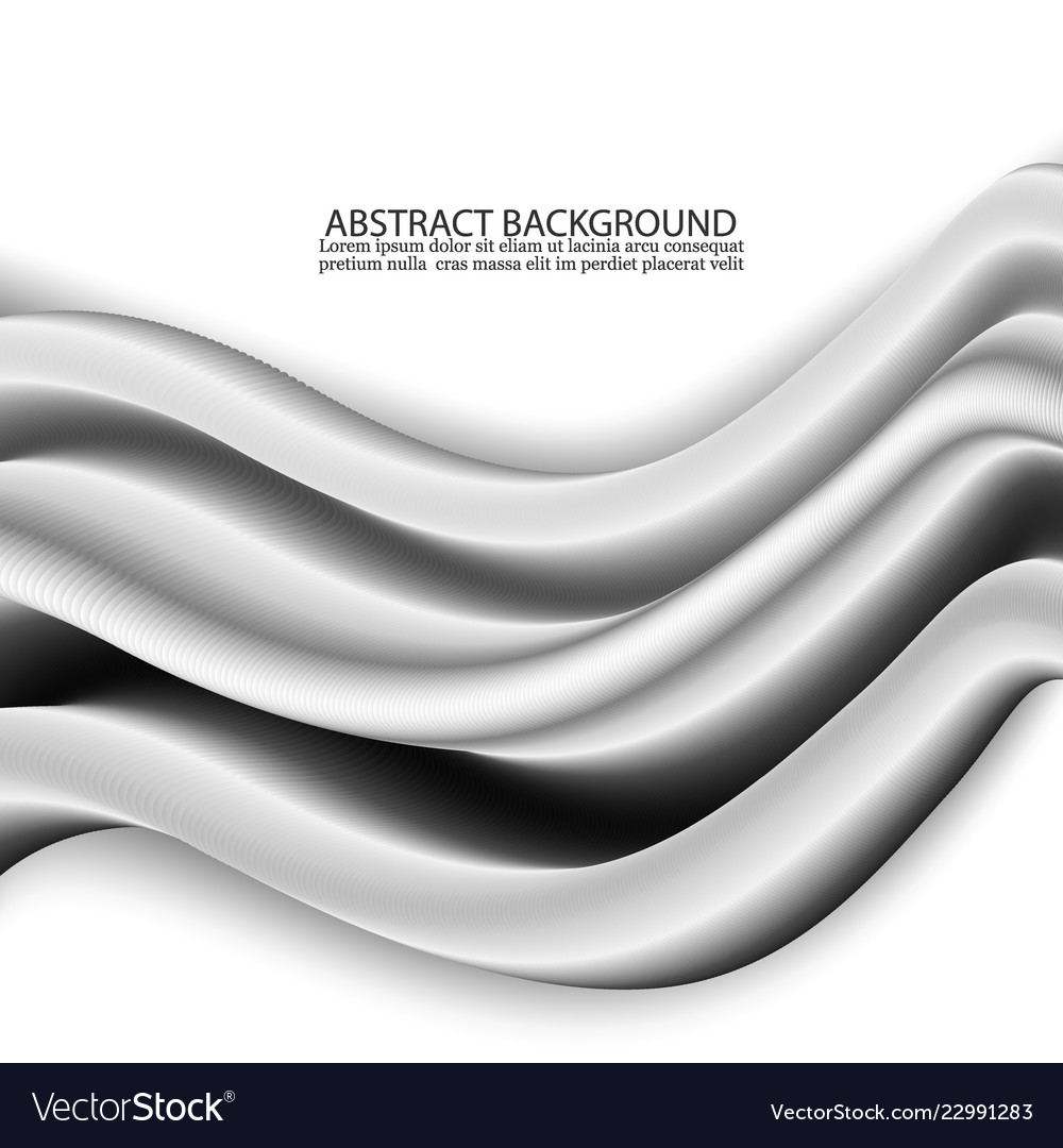 Concept of abstract silver wave background design