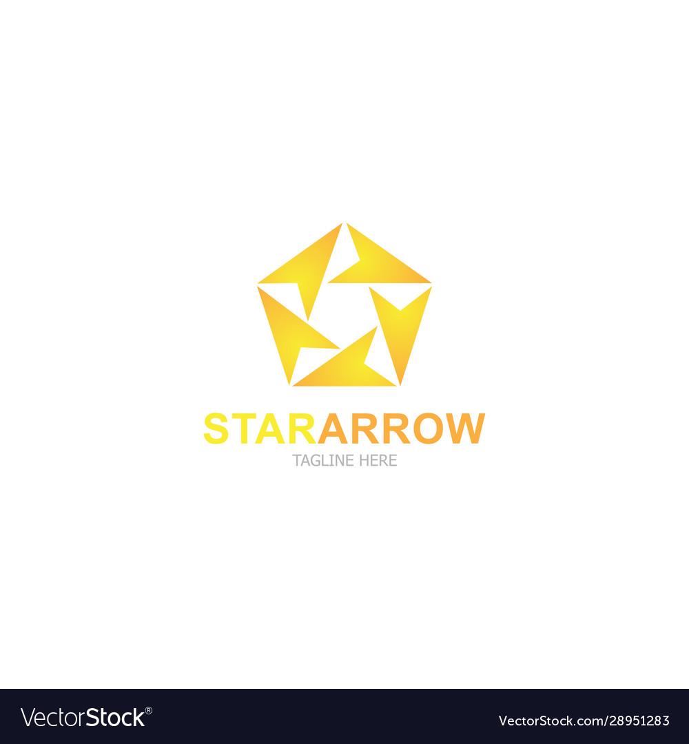 Logo template star arrow