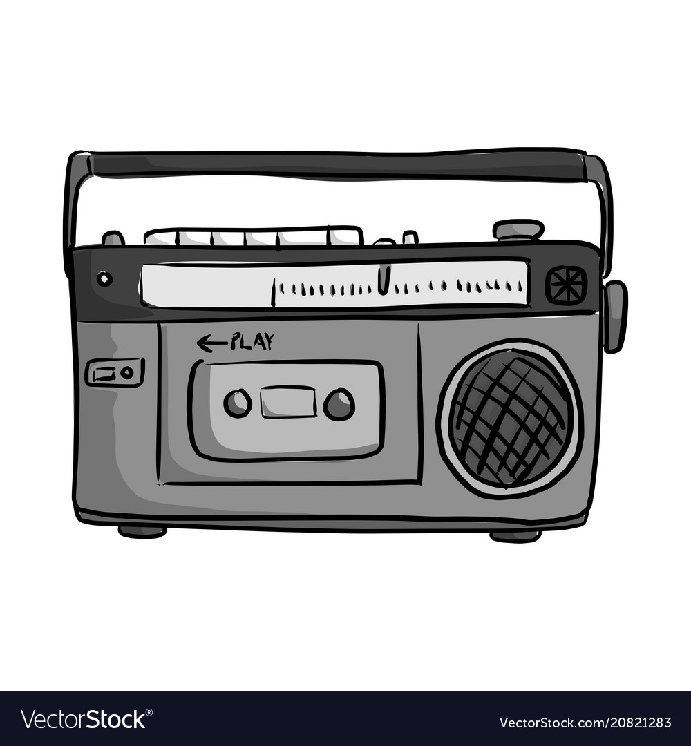 Retro classic tape radio player