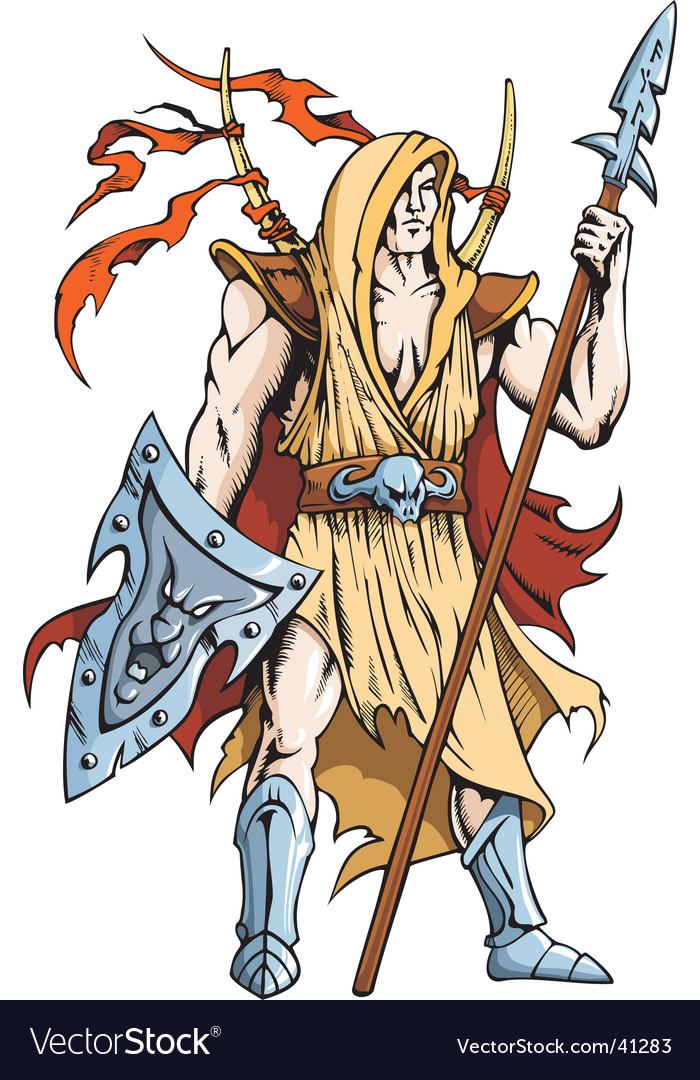 Warrior knight vector image