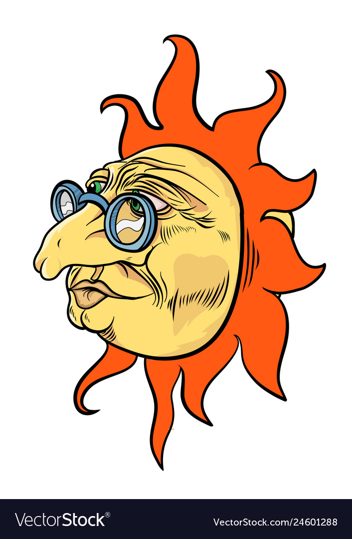 Aged sun character