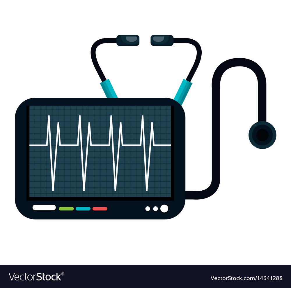 Cardiology stethoscope medical service isolated