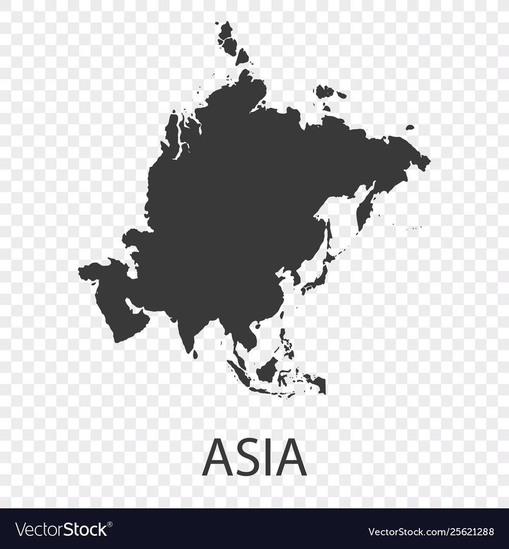 Grey blank asia map flat eps10