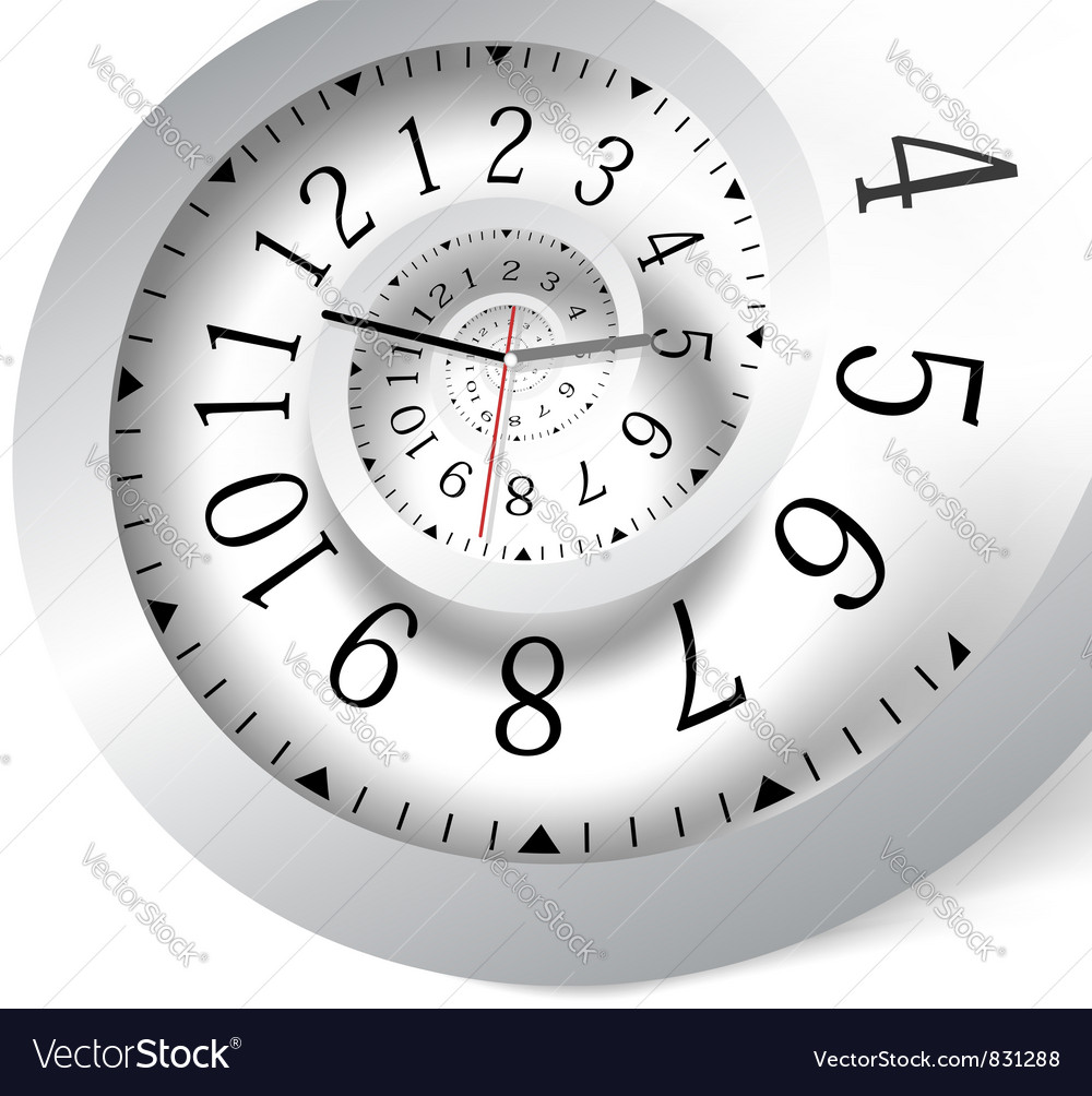 Infinity time background vector image