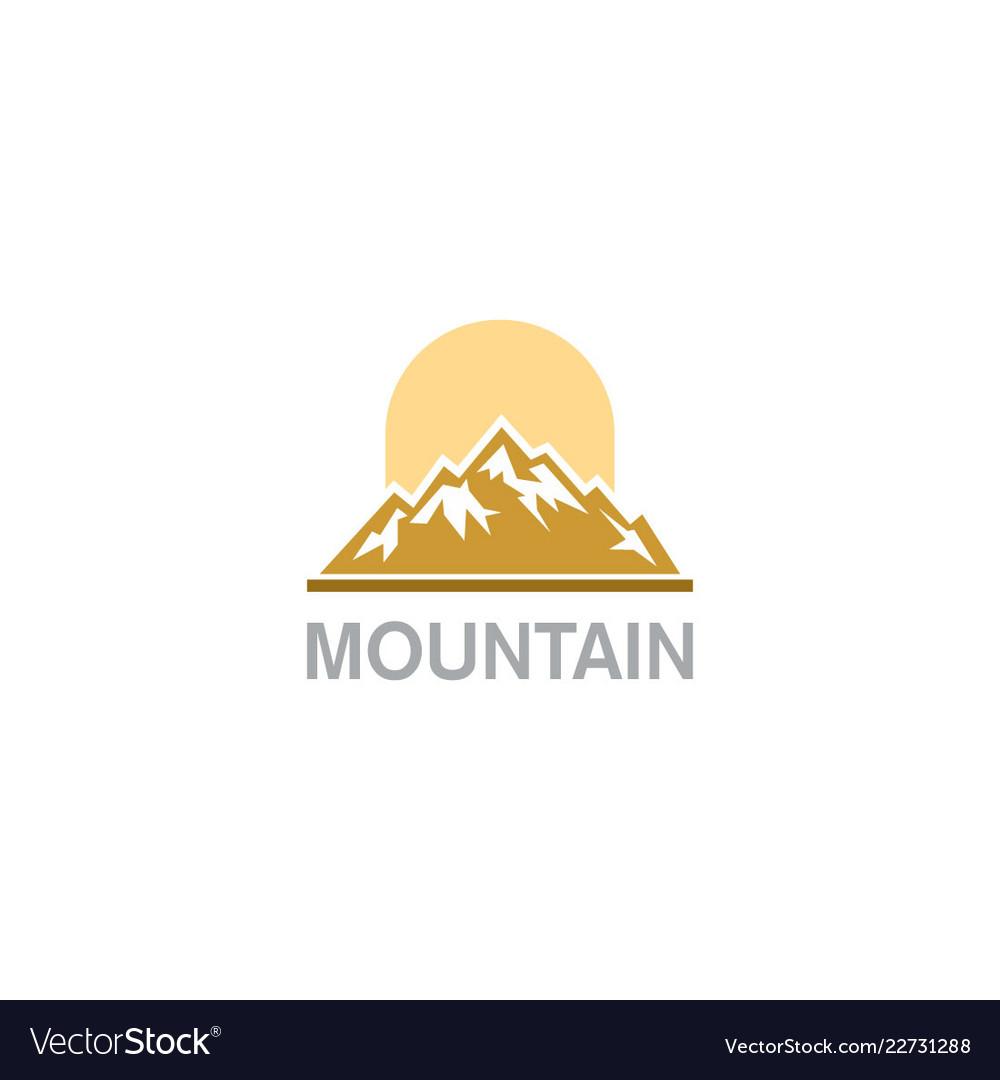 Mountain nature hill logo