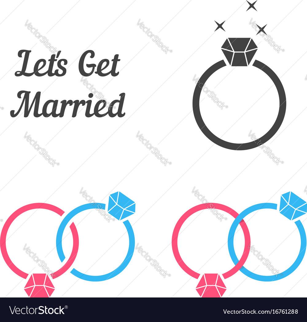 Set of rings like get married