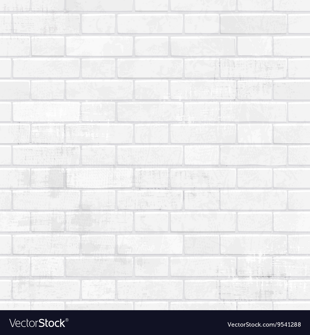 Shabchic White Brick Wall For Your Design Vector Image