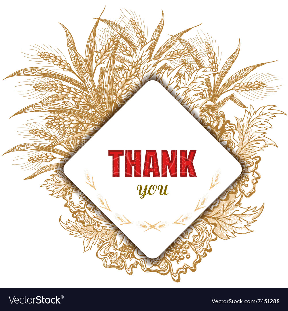 Vintage Thank You Card Stylish floral background
