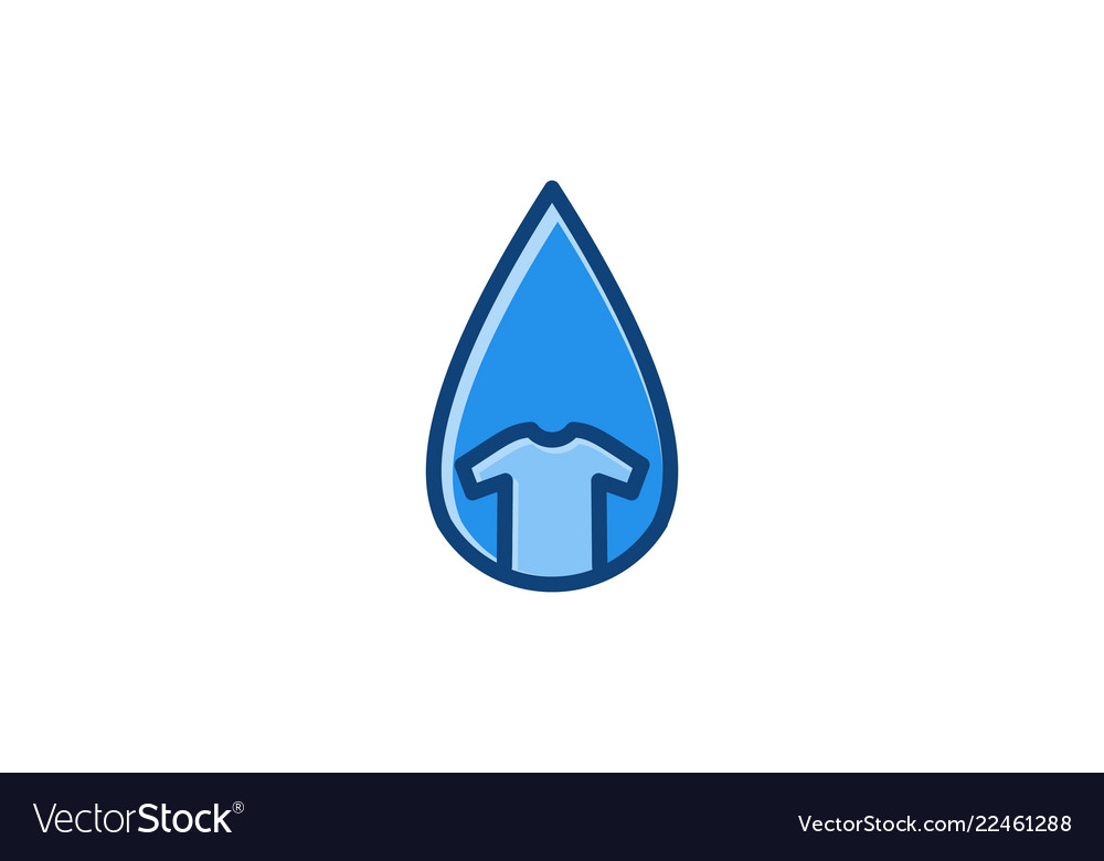 water drop and t shirt laundry logo inspiration vector image vectorstock