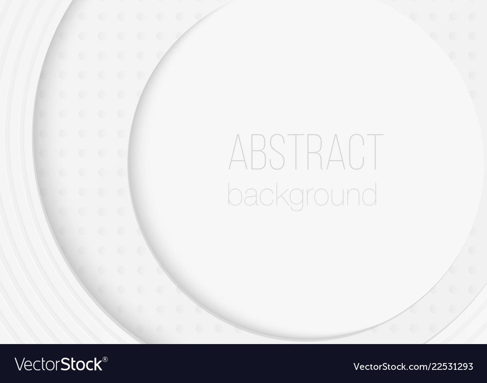 Abstract volumetric 3d circle rounded paper cuted