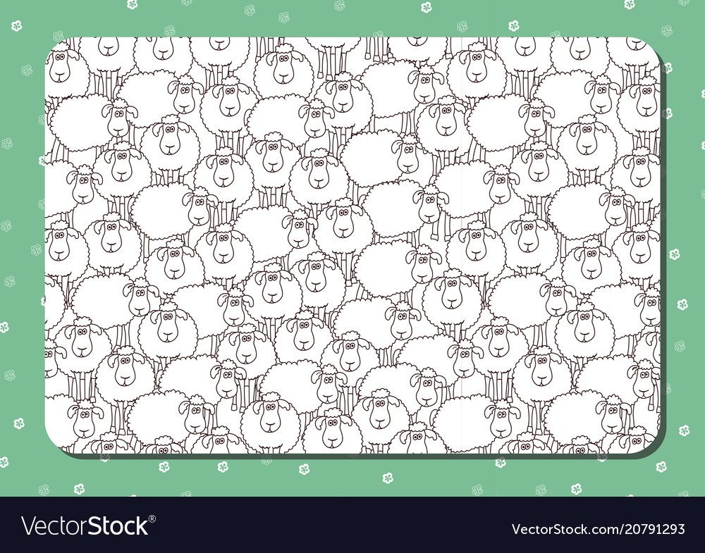 Coloring Book Horizontal Album Page Funny