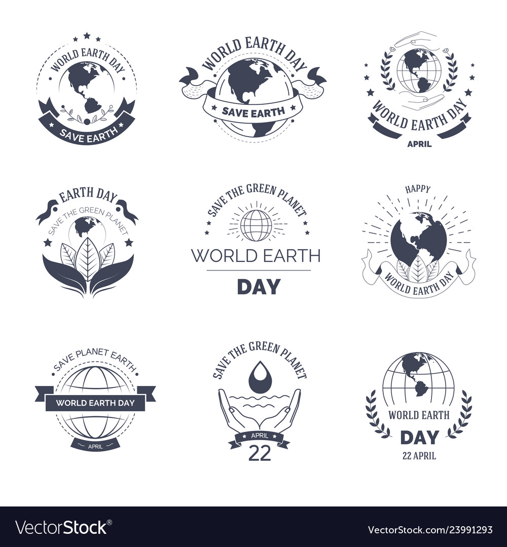 Earth day isolated monochrome icon environment and
