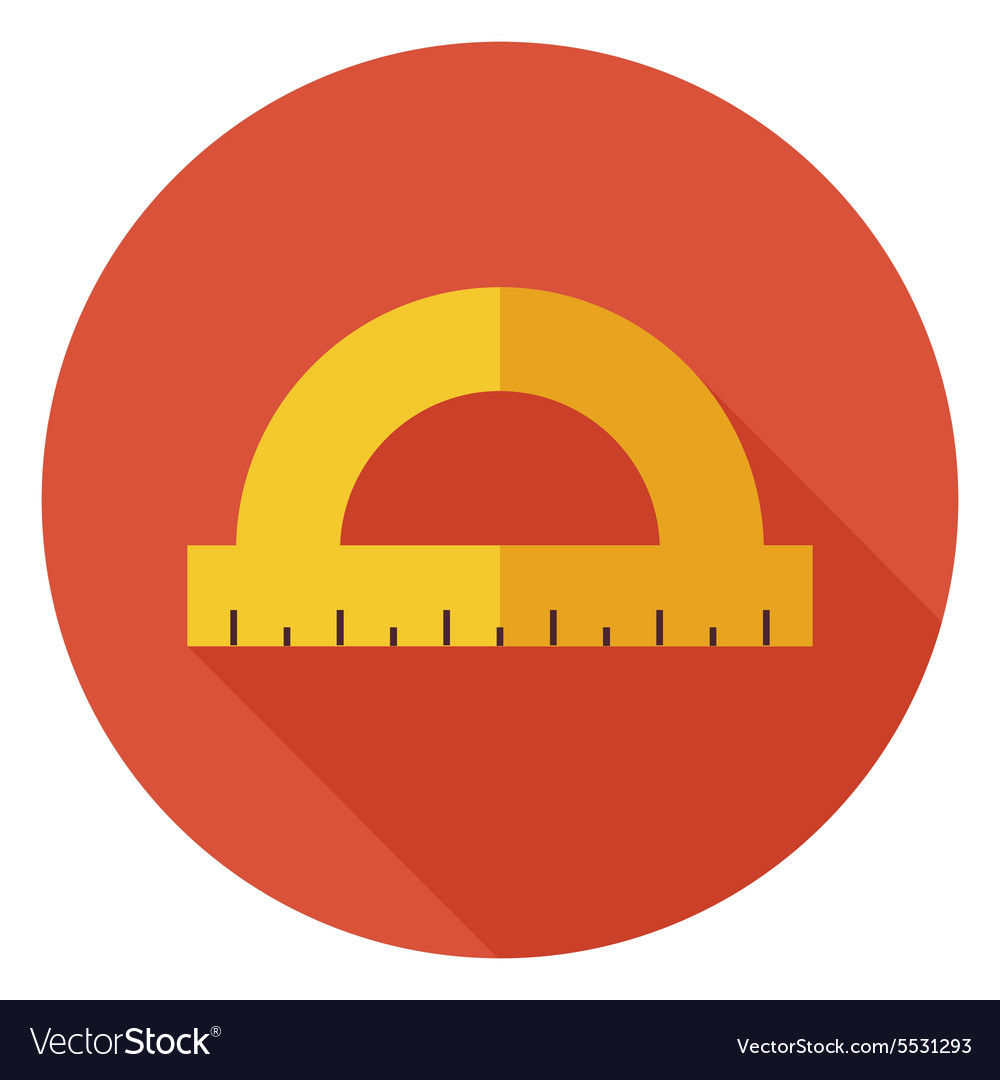Flat Office Measure Instrument Protractor Circle