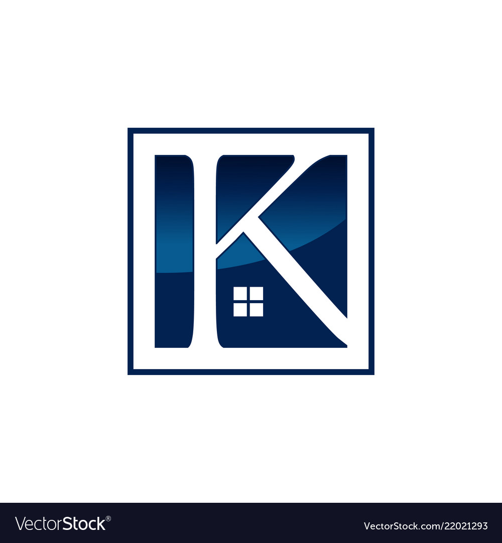 Letter k real estate logo design template