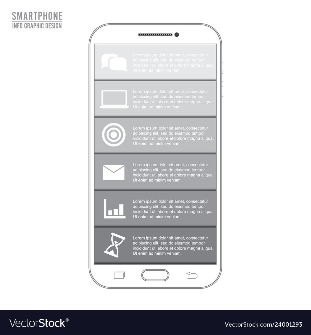 Mobile phone for infographic template for