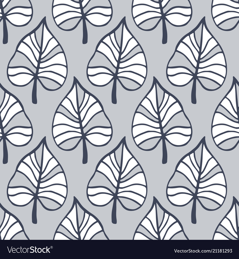 Tropical leaves seamless pattern summer background