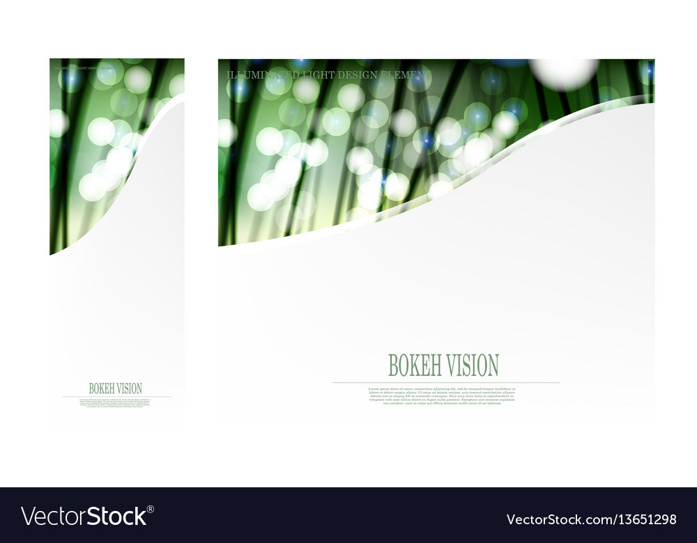 Abstract bokeh vision in the forrest template