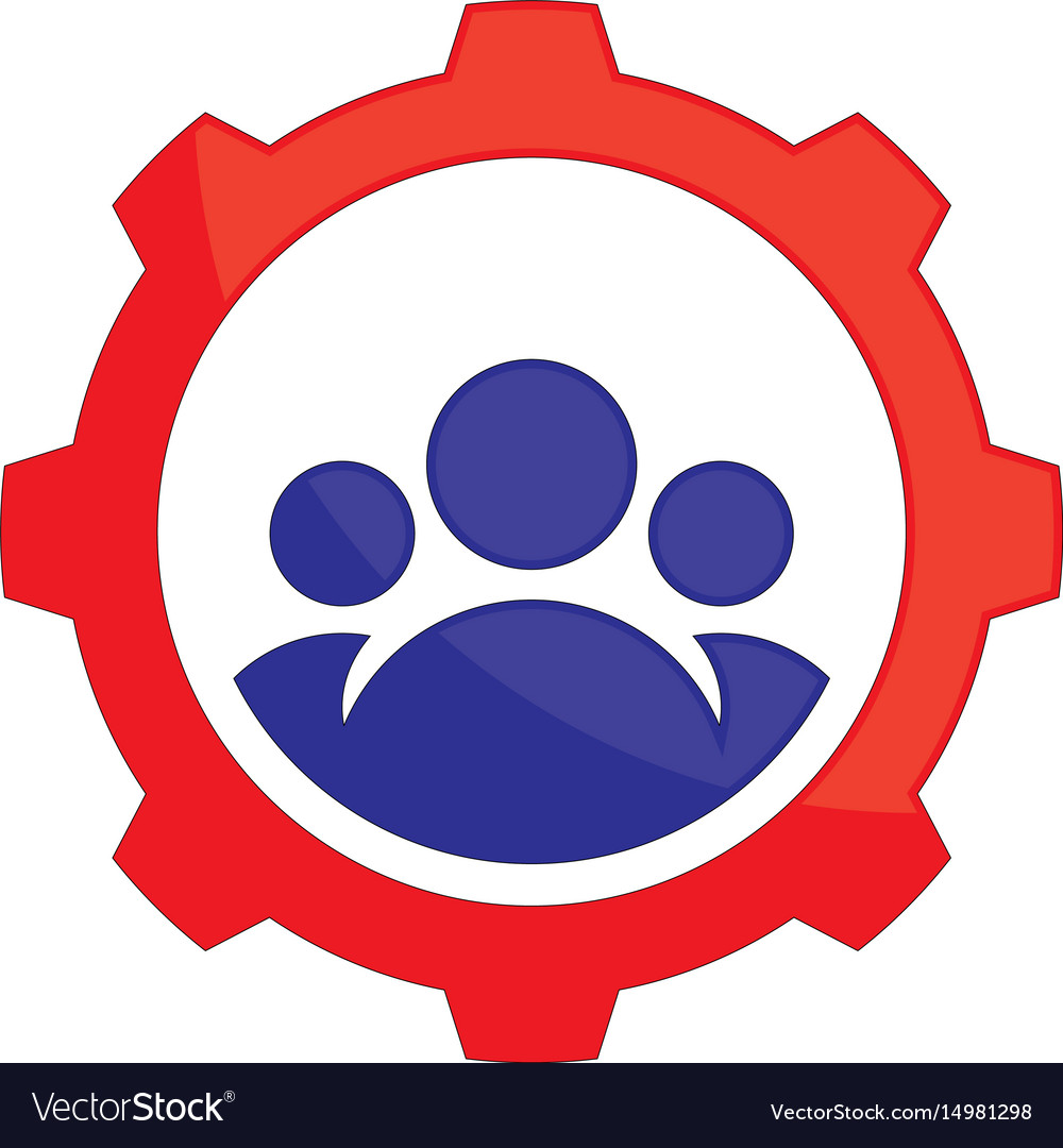 Abstract gear team work logo icon image ima