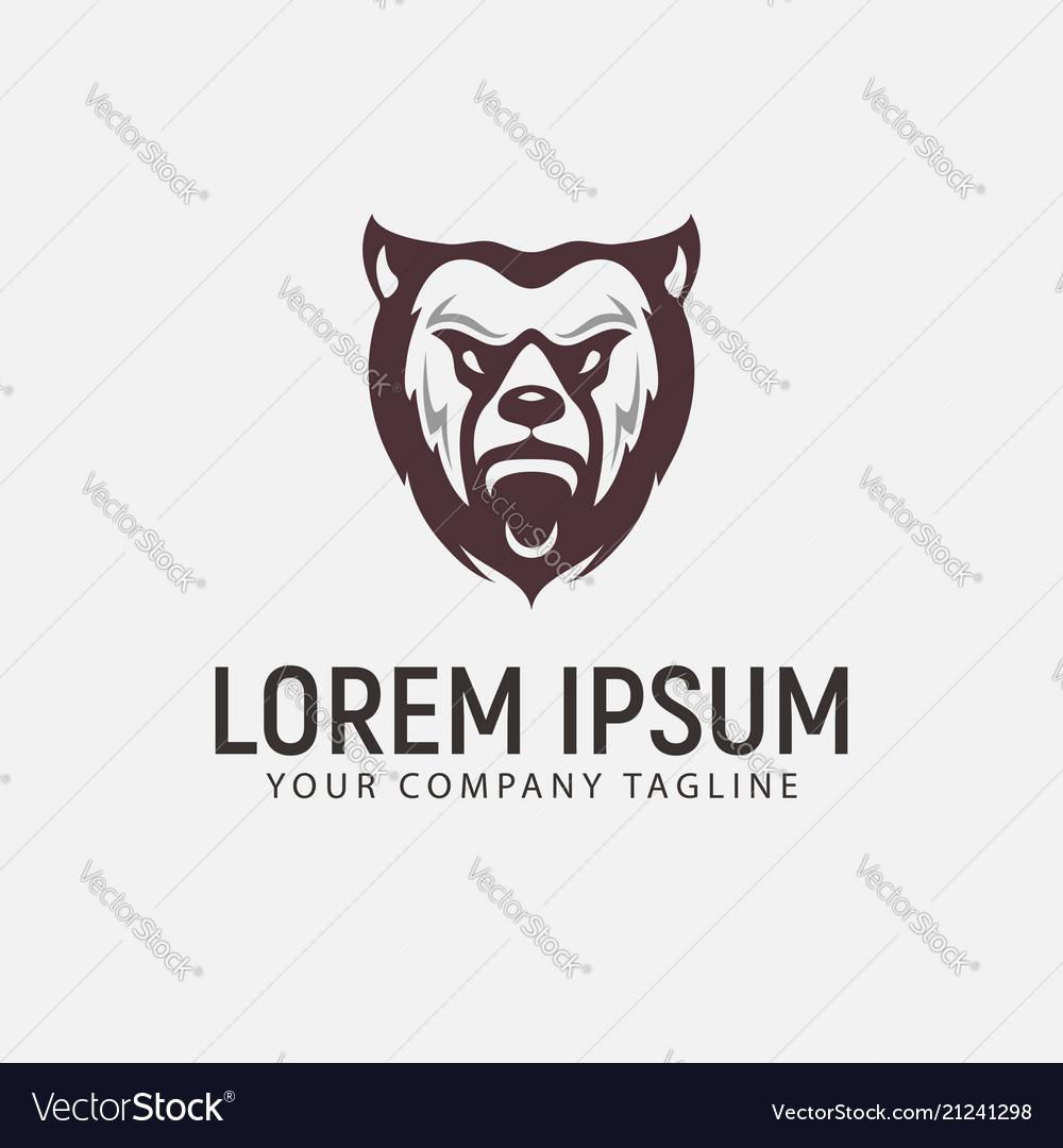 Bear beast logo design concept template