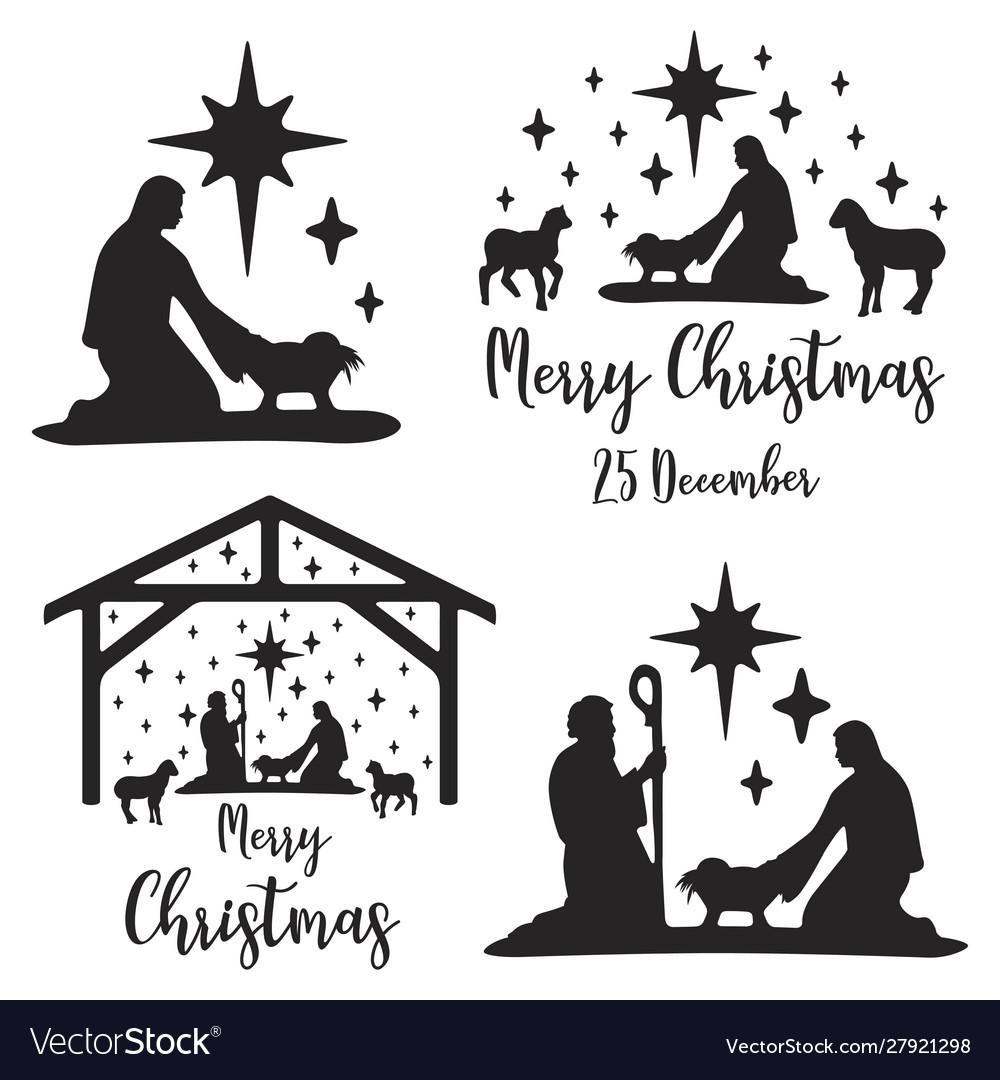 Birth christ scene