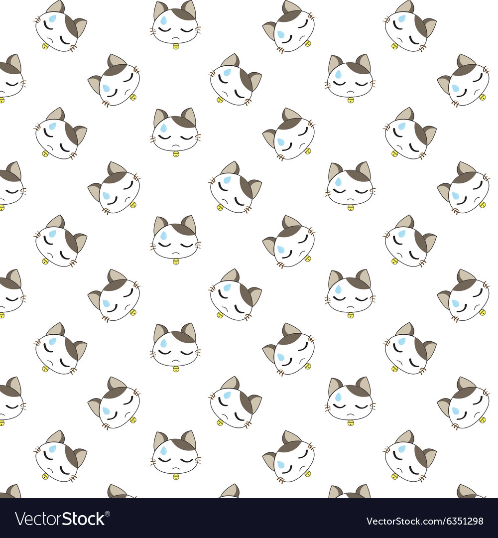 Cute Cartoon Cats Pattern