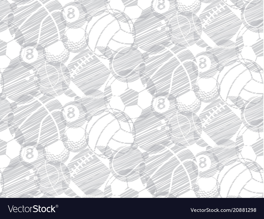 Drawing sketch ball sport seamless backdrop