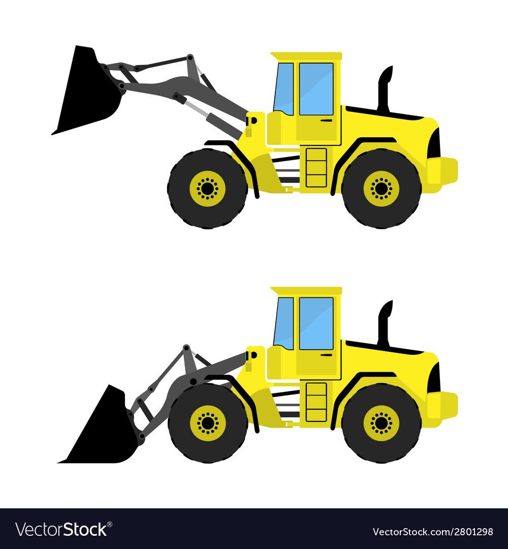 Front loader vector image