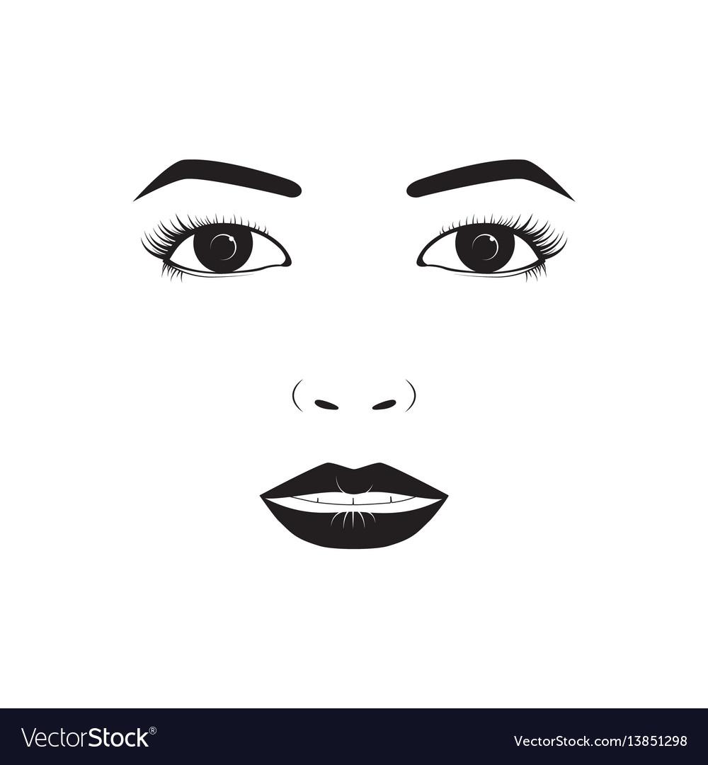 Girl emotion face laugh cartoon vector image