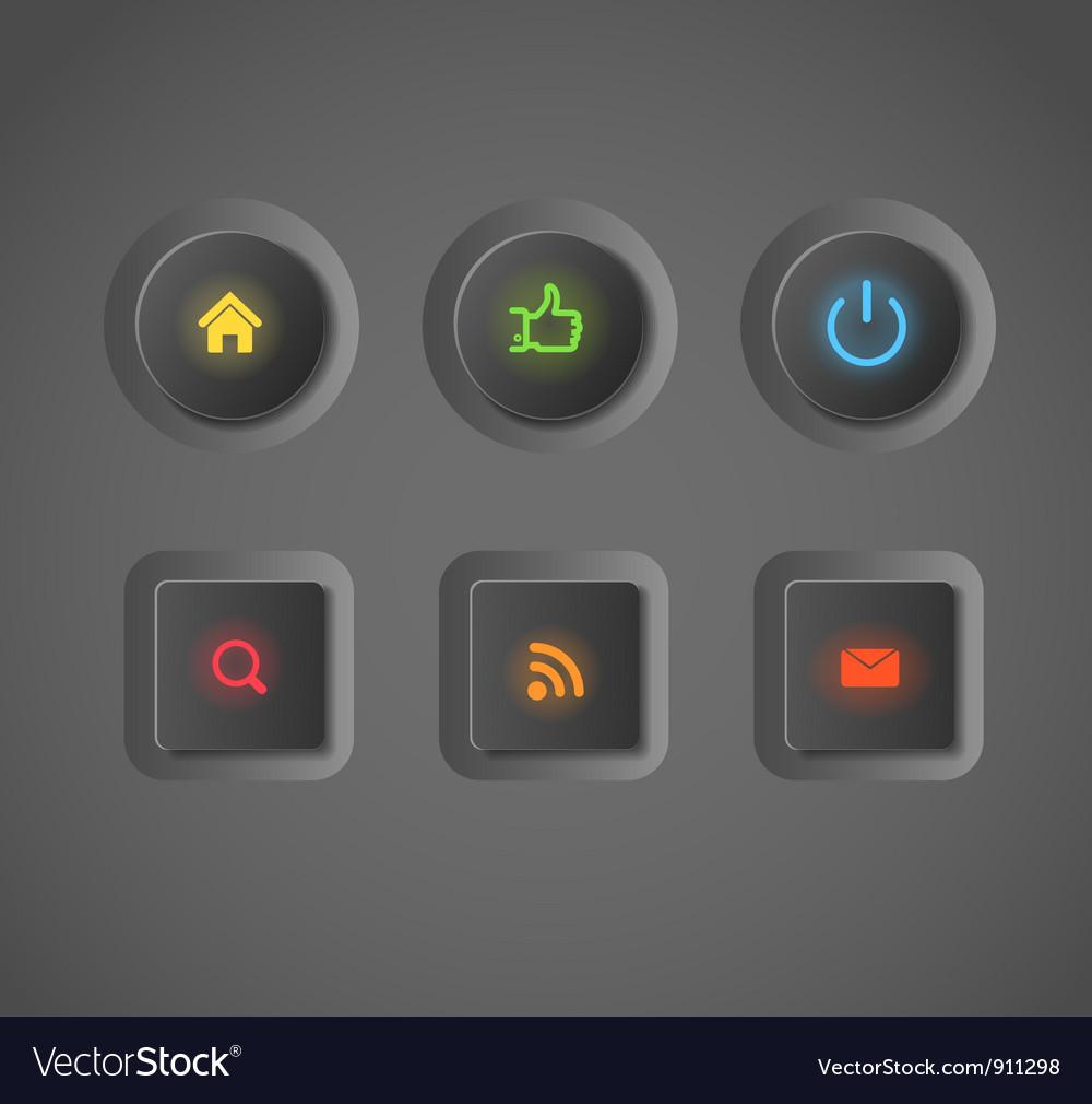 Icobut vector image