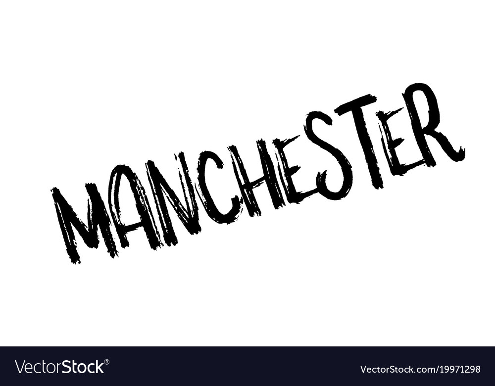 Manchester Rubber Stamp Vector Image