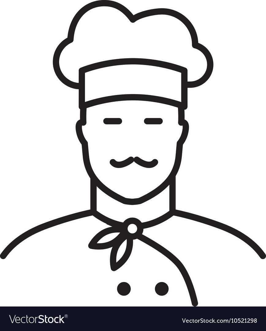 Professional chef line icon