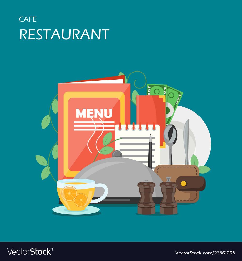 Restaurant services flat style design