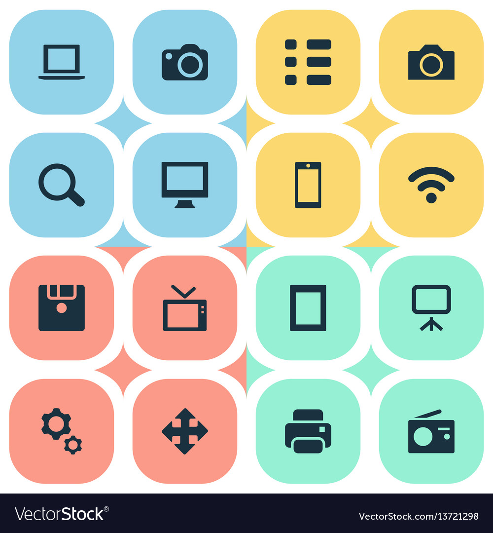 Set of simple device icons